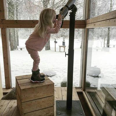 Februar måneds vinner. Nysgjerrigheten er stor hos de små!