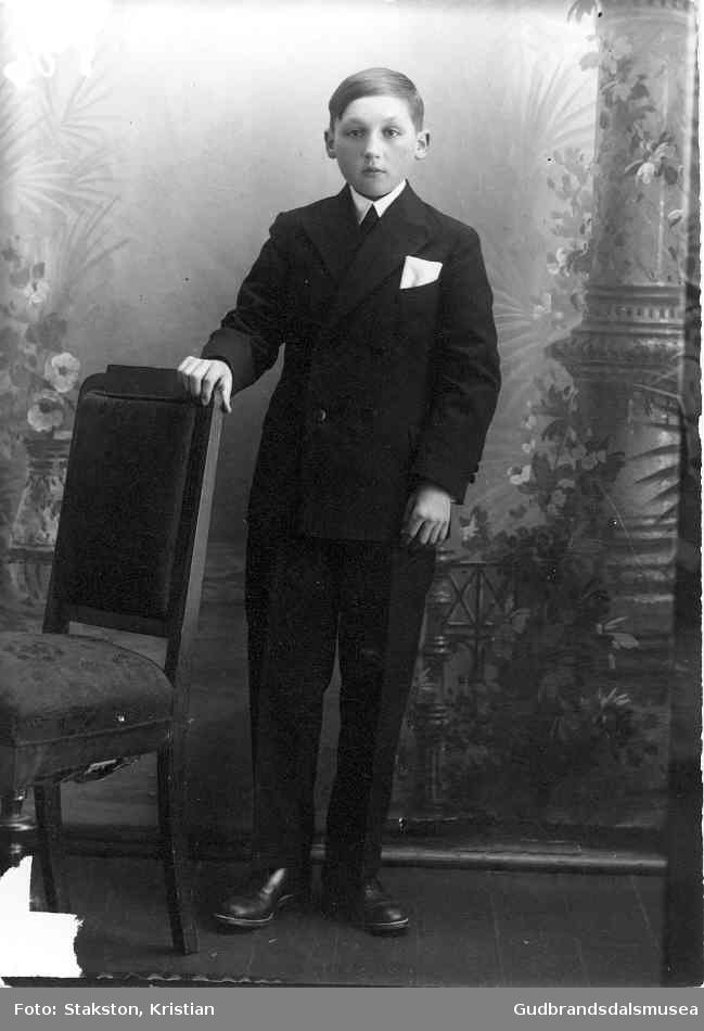 Per Hosar (f. 1917) som konfirmant