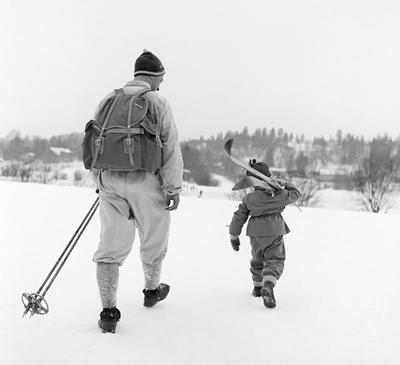 Bilde tatt på Birkebeinerrennet i 1959.