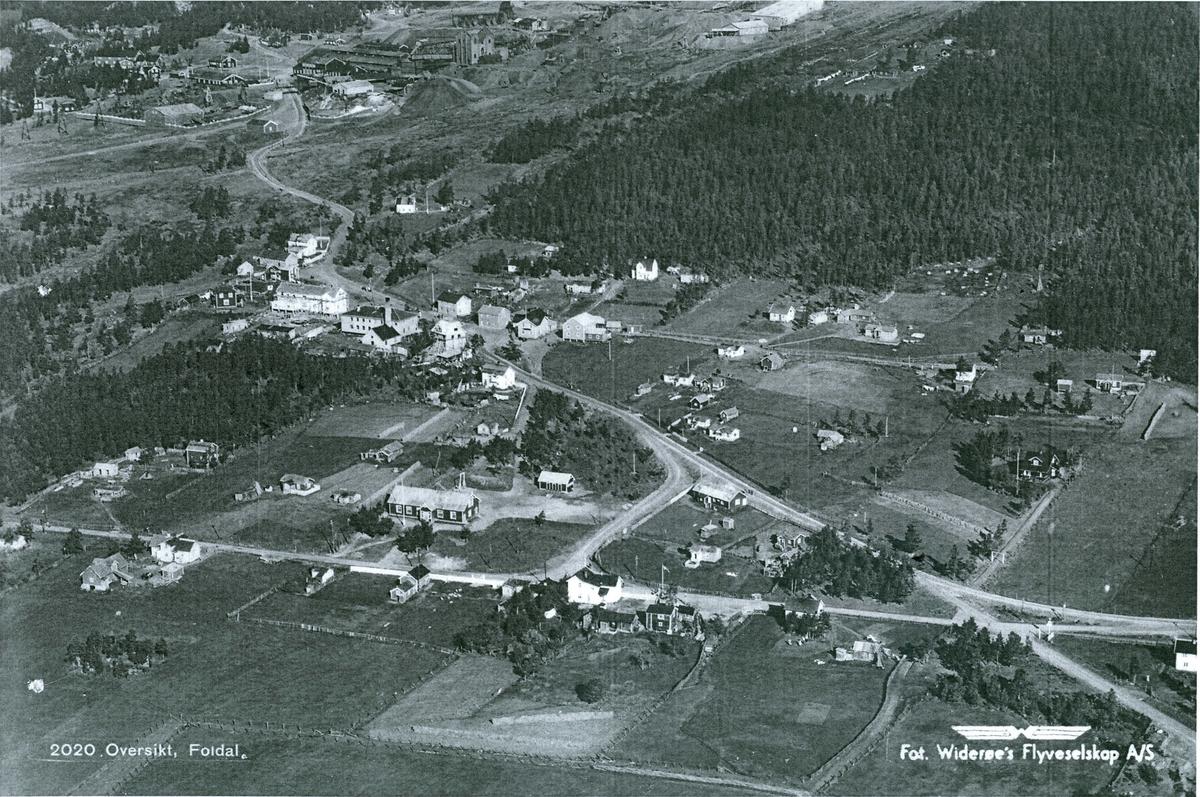 Flyfoto Folldal sentrum