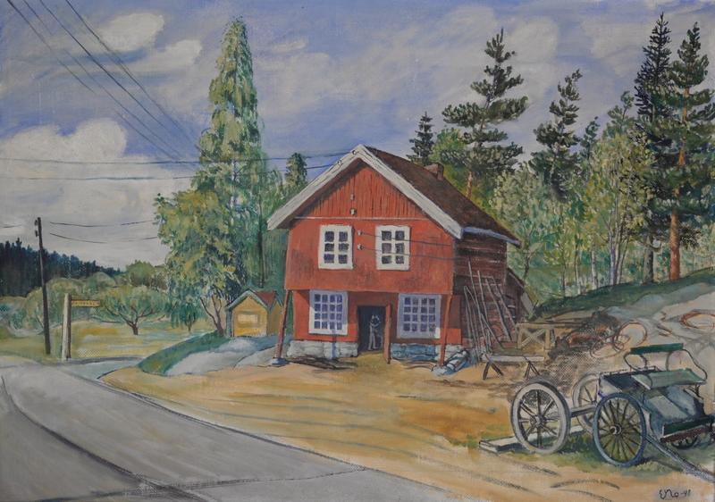 Smia slik E. Nordahl malte den i 1948.