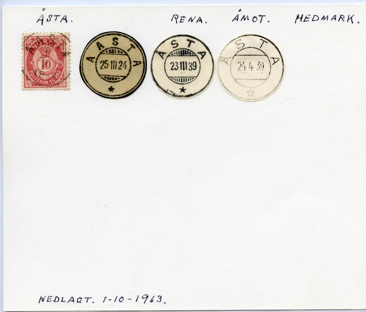 Åsta (Aasta), Rena, Åmot, Hedmark