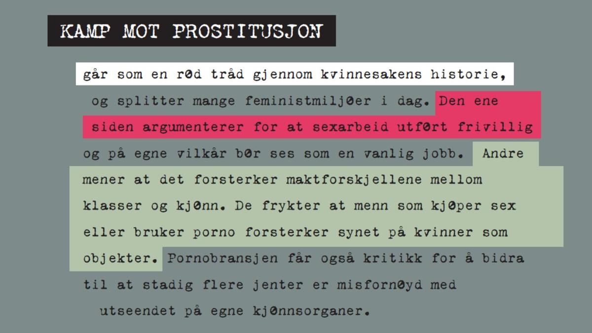 Lysbilde - prostitusjon