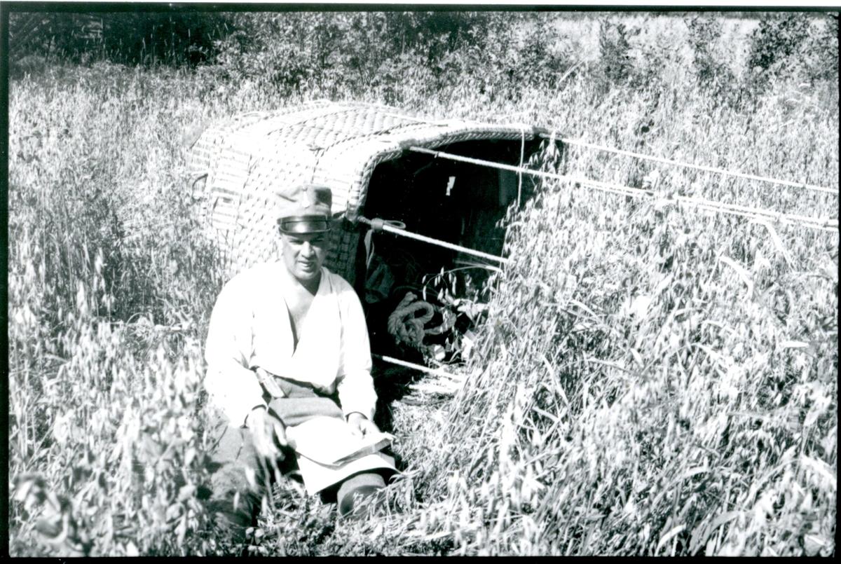 Kulballong m/1930 som landat.