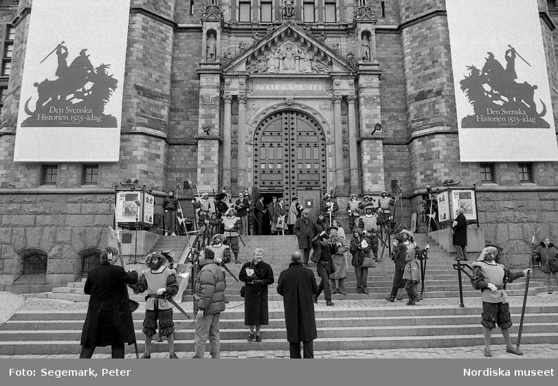 """Invigning av utställningen """"Den Svenska Historien"""" på Nordiska museet."""