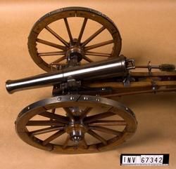 Modell av 6-pundig kanon m/1832