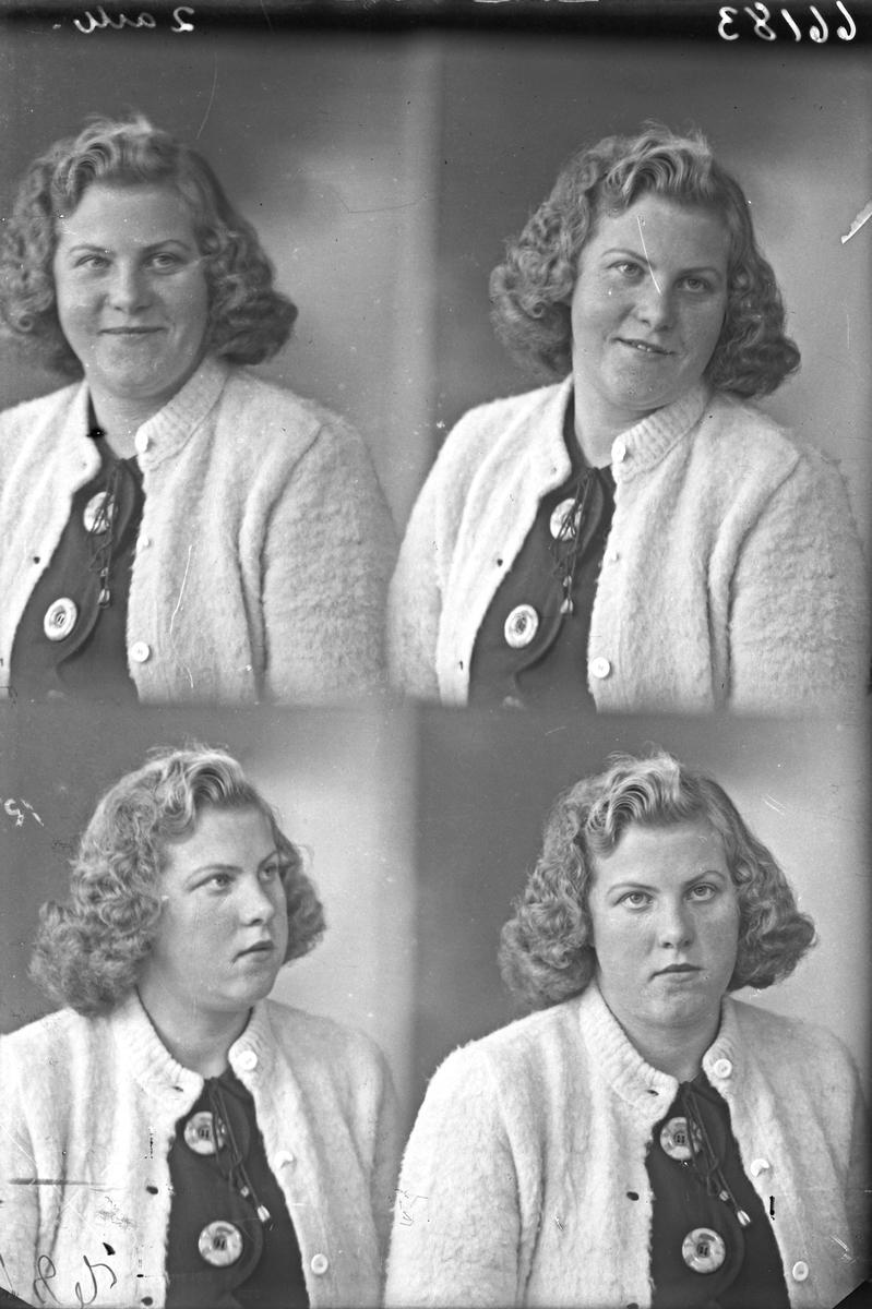 Portrett. Ung kvinne. Bestillt av Borghild Gismervik. Røksund.