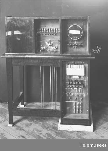 Telefonsentral, prøvebord, Stavanger, 10.12.1914. Elektrisk Bureau.