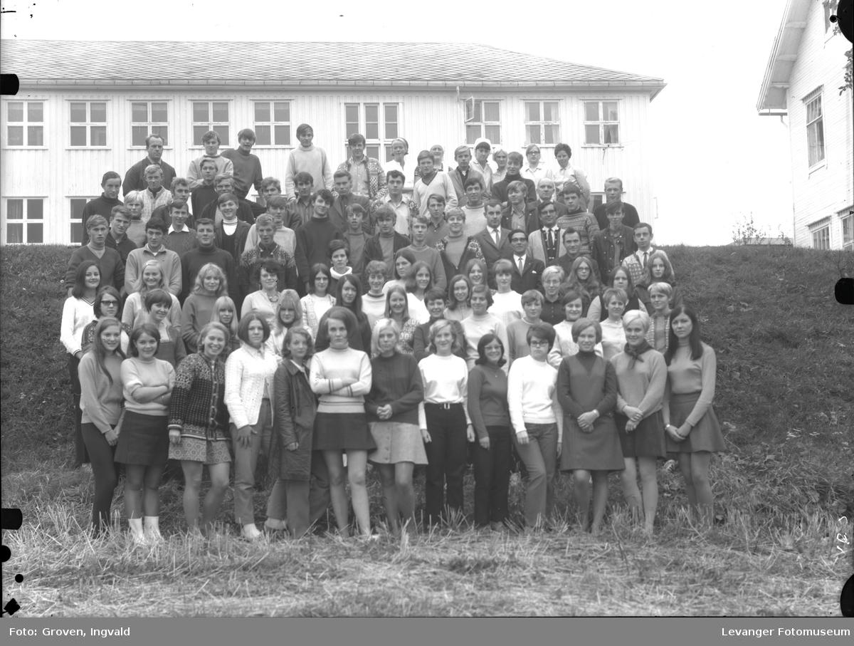 Skolebilde, Skogn folkehøgskole med personalet.