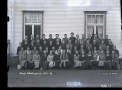 Skolebilde, folkehøgskole med personalet, Skogn folkehøgskul