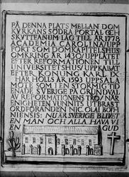"""Minnestavla över Upsala möte"", 1943"