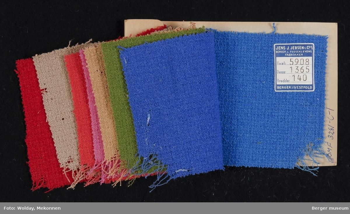 Prøvehefte med 8 prøver Drakt Kvalitet 5908 Stykkfarget
