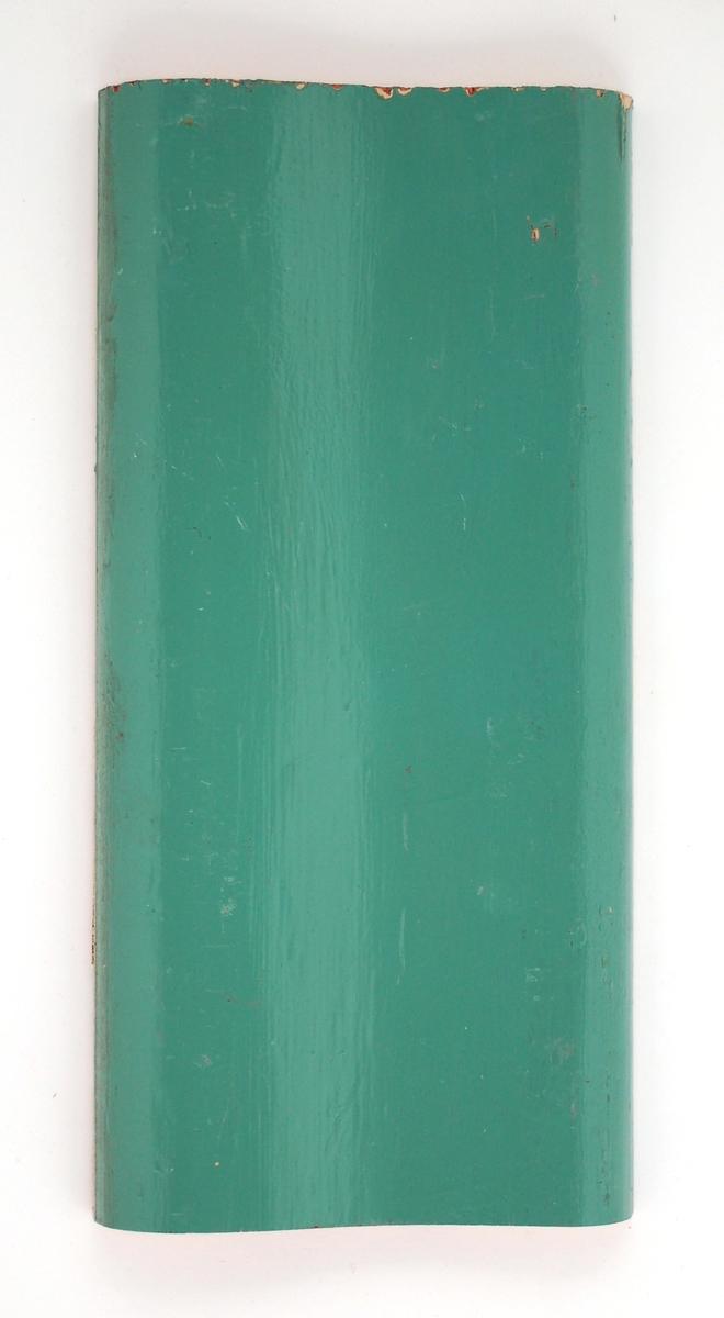 Kat.kort: Foder, trä. Grönmålad. Från omkring 1902. Från bottenvåningen.