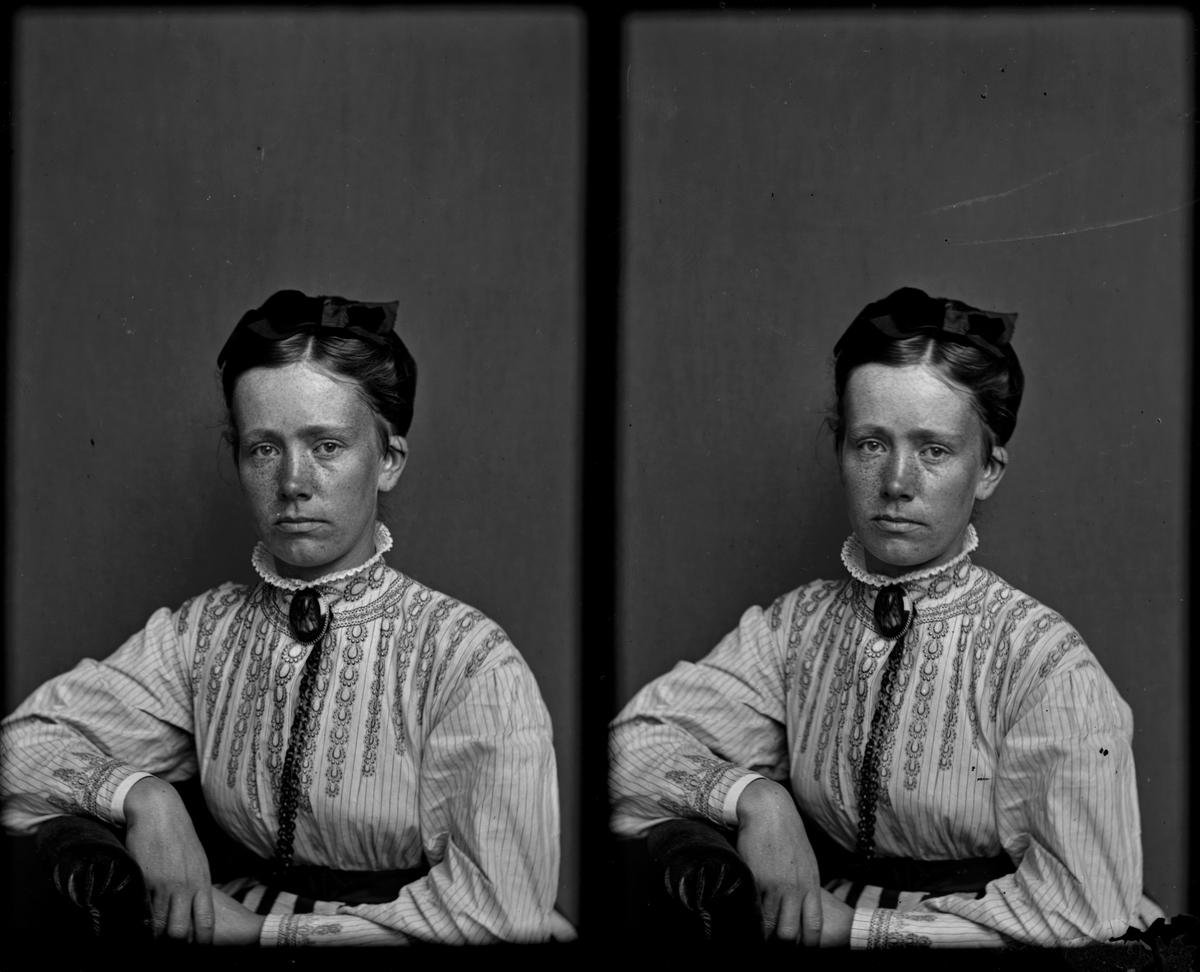 Möjligen bild av fotografen Amanda Gussander. Tagen på 1860-talet. Foto: Amanda Gussander.
