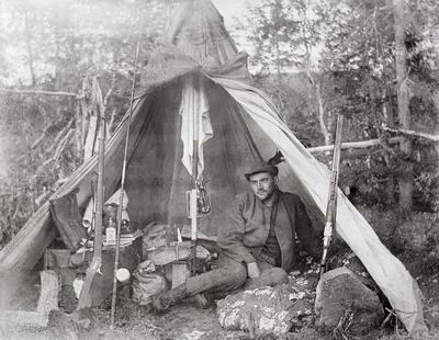 Skogfunksjonærens teltplass ved Store Majavand. 1915.