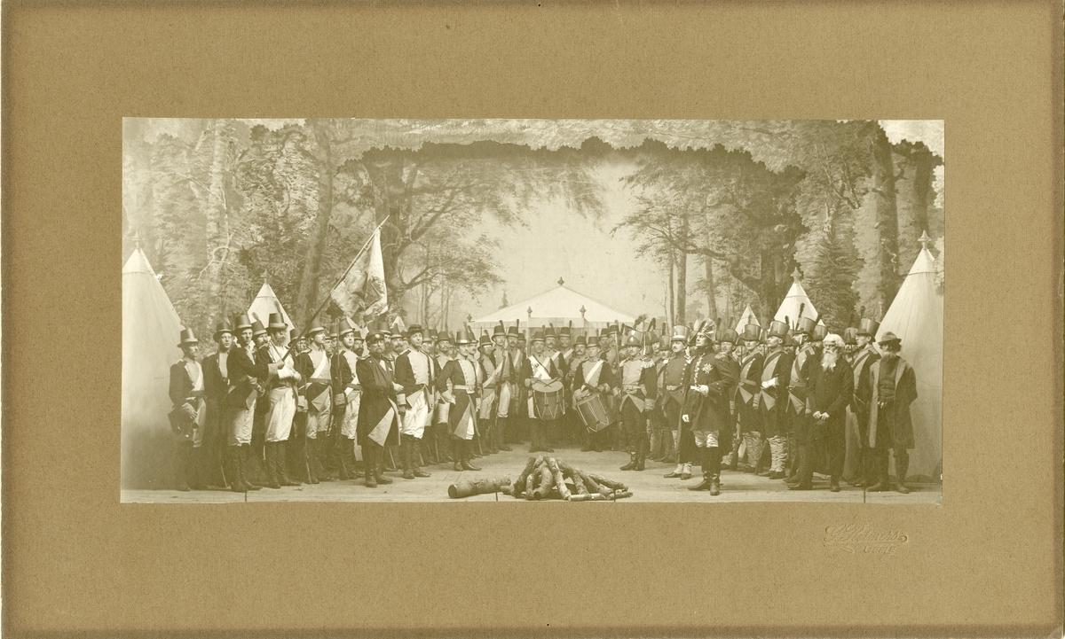 Scen ur historiskt skådespel 1808-09 vid Hälsinge regemente I 14.