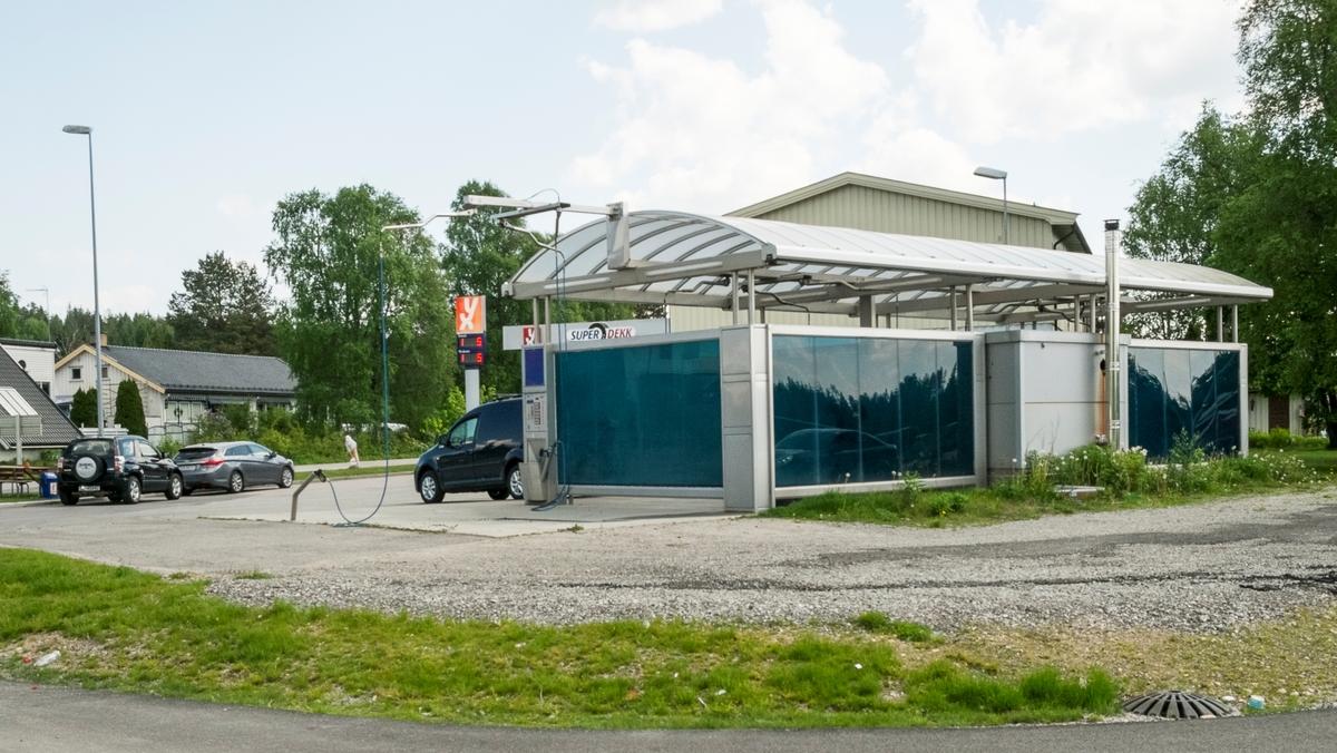 YX bensinstasjon Mauraveien Maura Nannestad