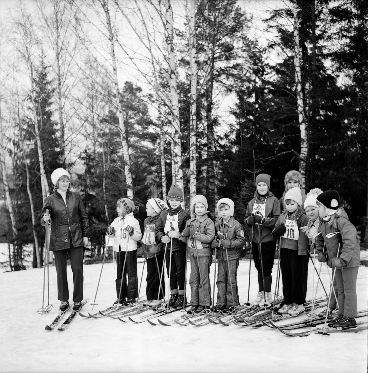 Skidskoleavslutning i Arbrå, Mars 1973