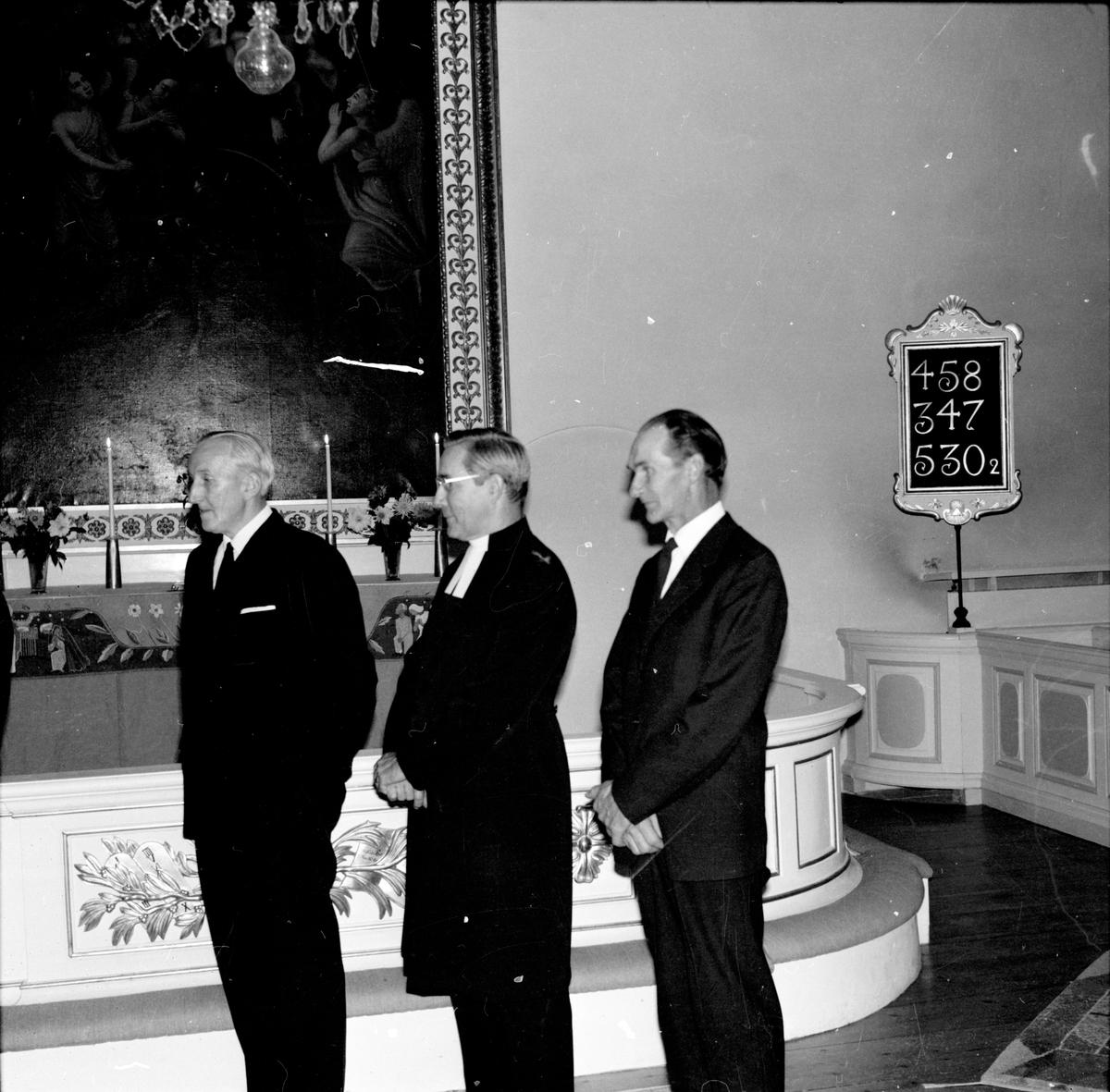 Undersvik, Blomqvists avtackas i Undersviks kyrka, Maj 1970