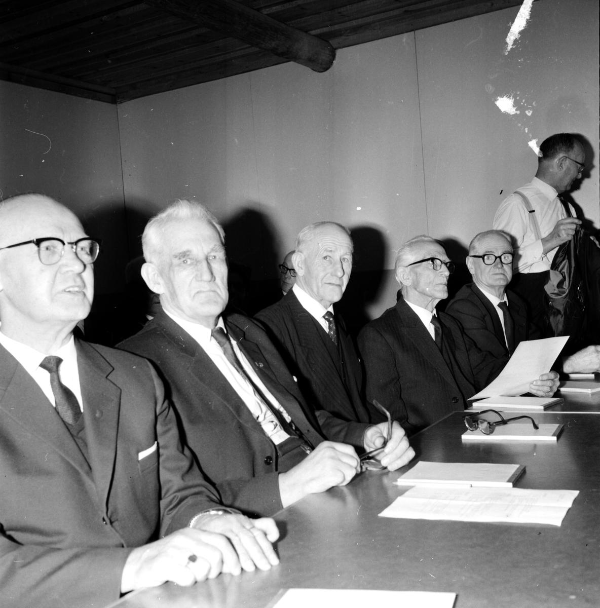 Folkpensionärer på kurs, på Bollegården, 22 Jan 1965