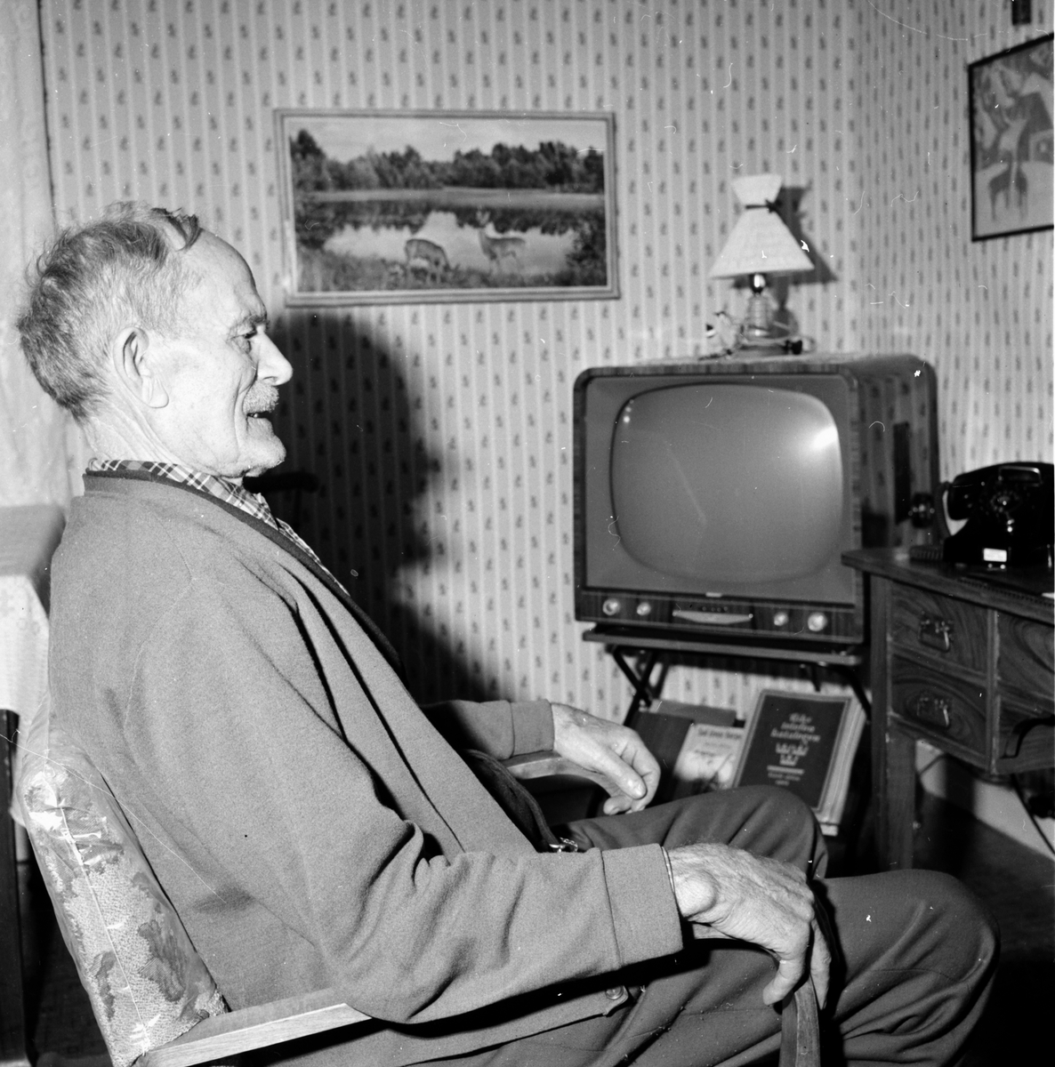 Lingbo, 86-årige Gustaf Olsson, 11 Dec 1964