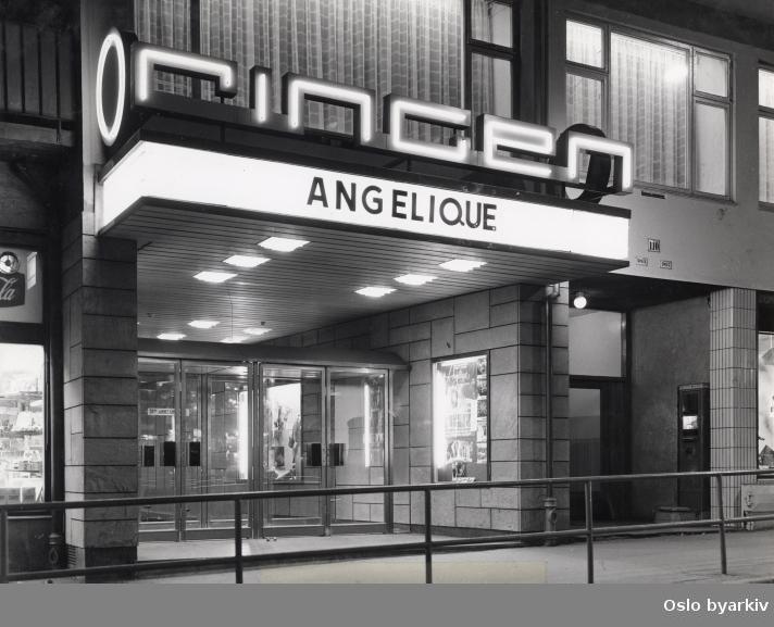 "Inngangsparti. Film som vises: ""Angélique, marquise des anges"" fra 1964."