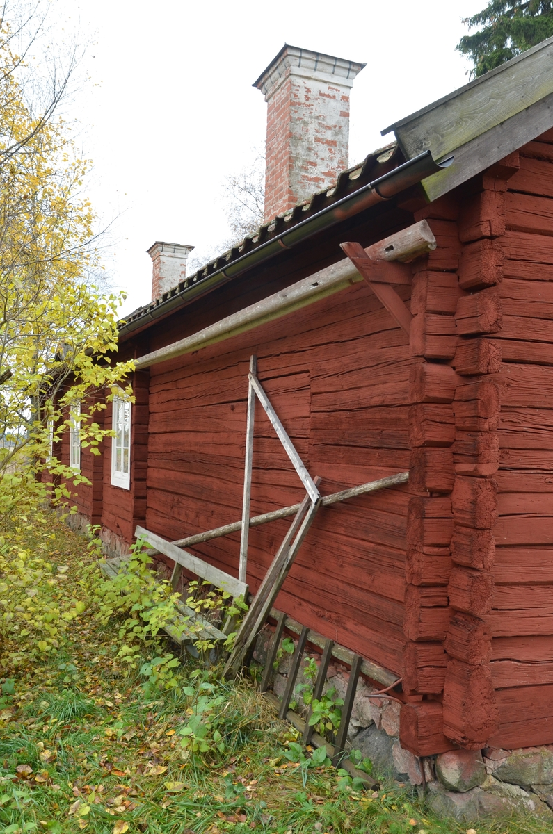 Håcksbytorpsstugan vid Huddunge hembygdsgård, Prästgården 1:1, Huddunge socken, Heby kommun, Uppsala län 2014