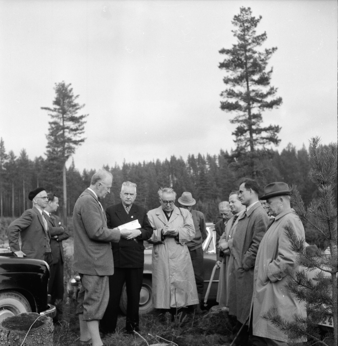Ryska skogsmän på besök. 7/10 1958