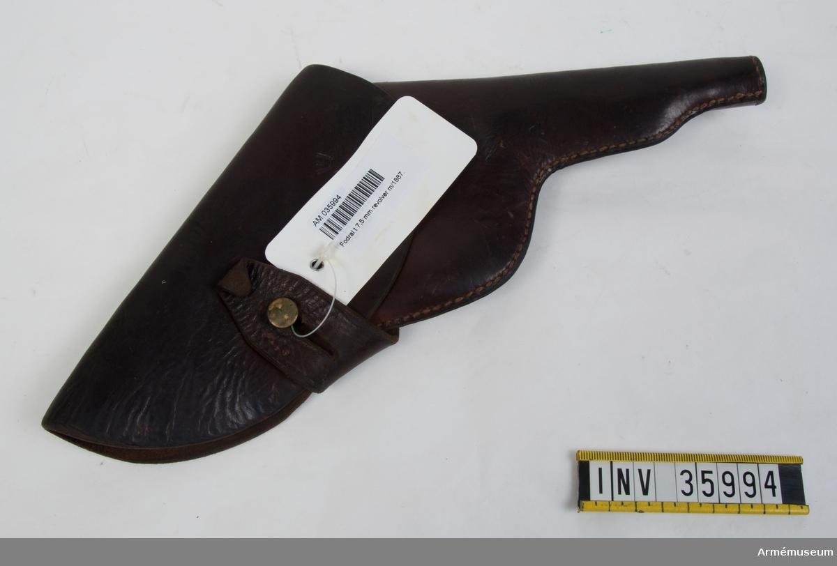 Grupp E III h. Fodral till 7,5 mm revolver m/1887.