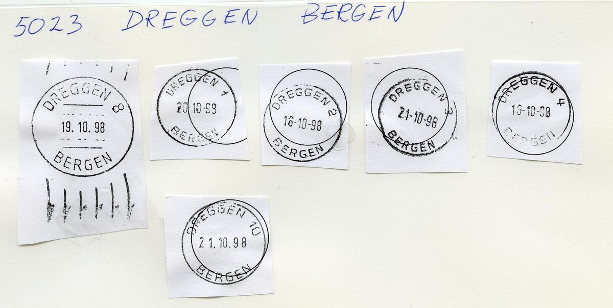 Stempelkatalog 5023 Dreggen, Bergen, Hordaland