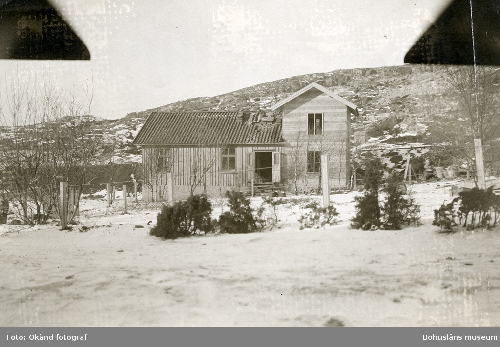 Området runt stenhuggeriet på RIxö täckt av snö