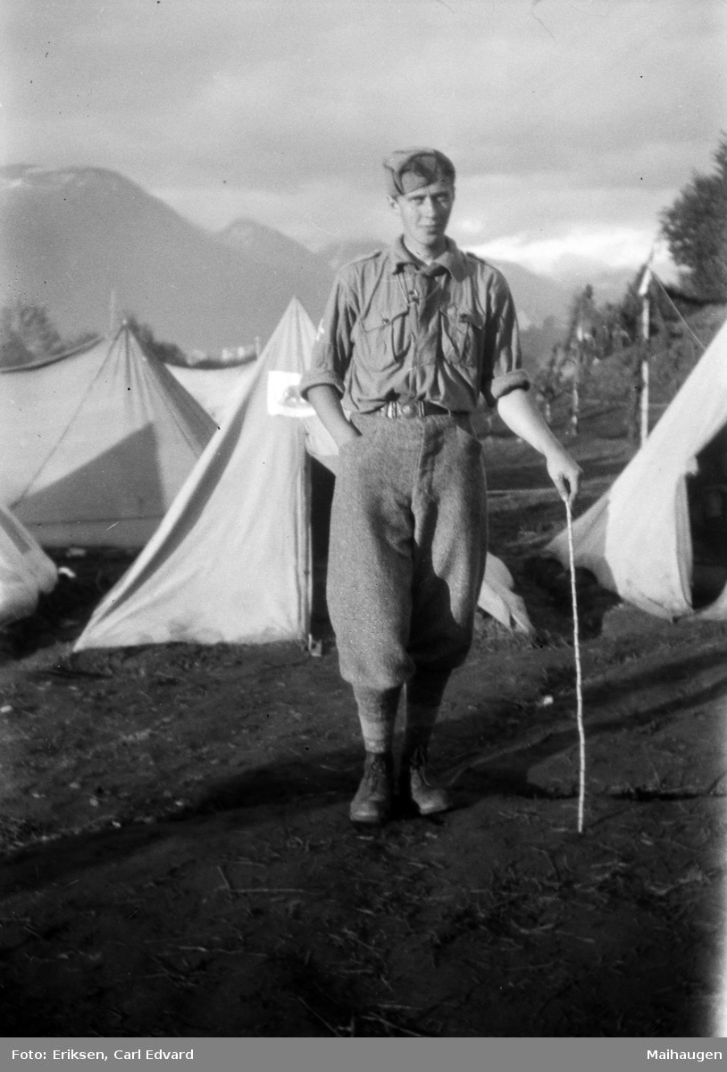 Landsleir i Åndalsnes 1928. Speidergutt.