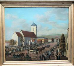 Carl Johans inntog i Trondhjem 31. august 1835 [Prospekt]