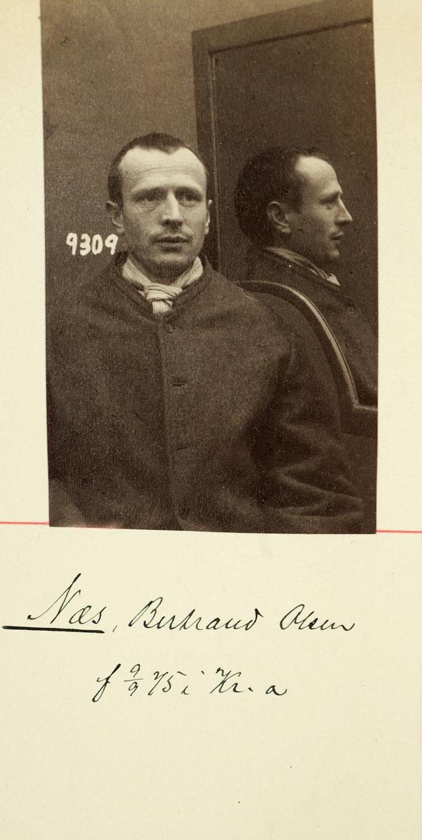 Registreringsfoto fra Kristiania-politiets forbryteralbum