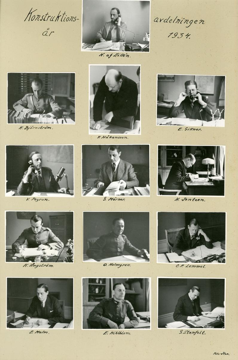 Konstruktionsavdelningen år 1934.