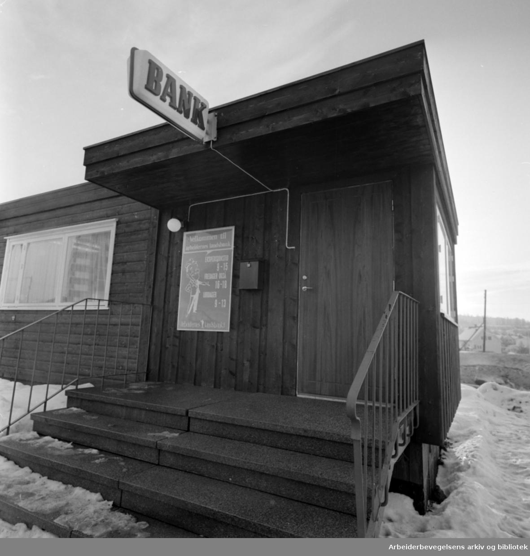 Tveita. Arbeidernes landsbank. Januar 1967