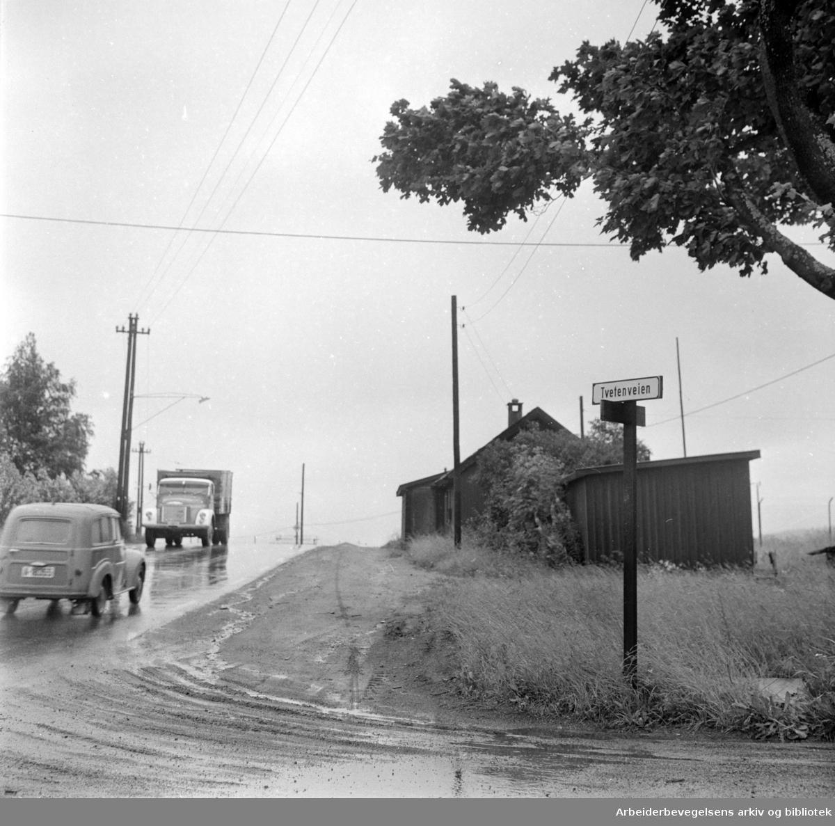 Strømsveien - Tvetenveien. Juli 1963