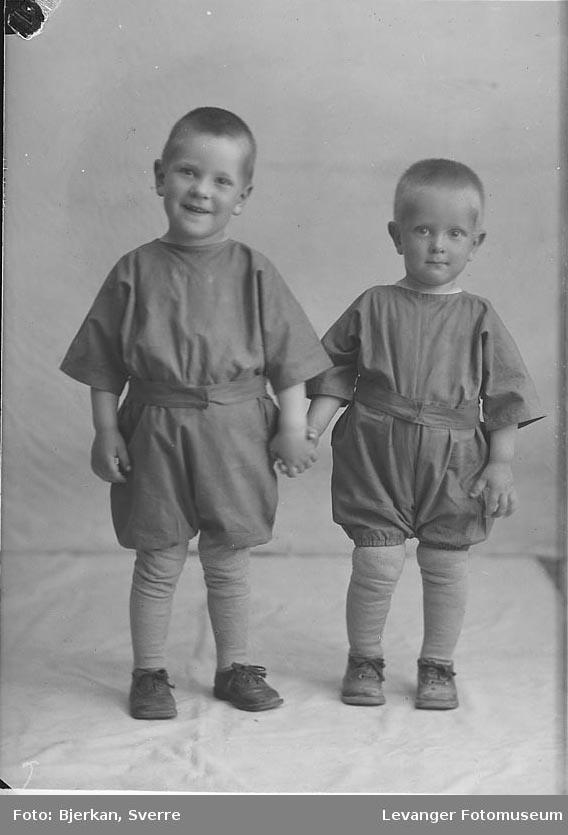 Portrett, trolig av to brødre. De har navnene Bjørn og Harald iversen