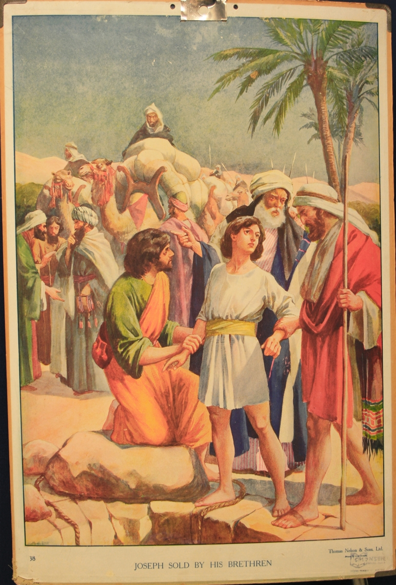 Josef blir seld av brørne sine.