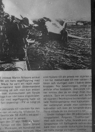 Ahrenbergs Fokker vid kaj i Munksjön.