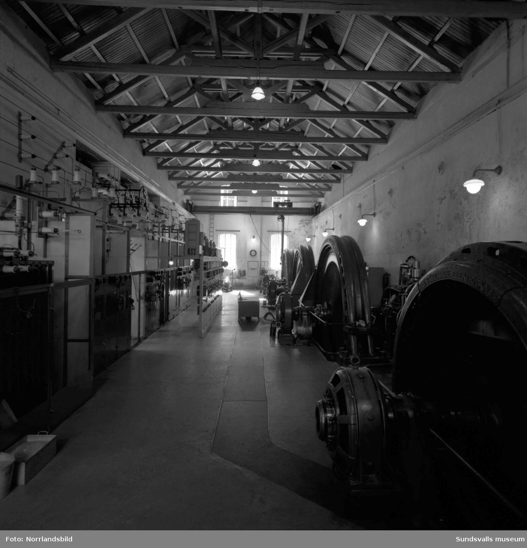 Interiörbild från Viforsens kraftverk.