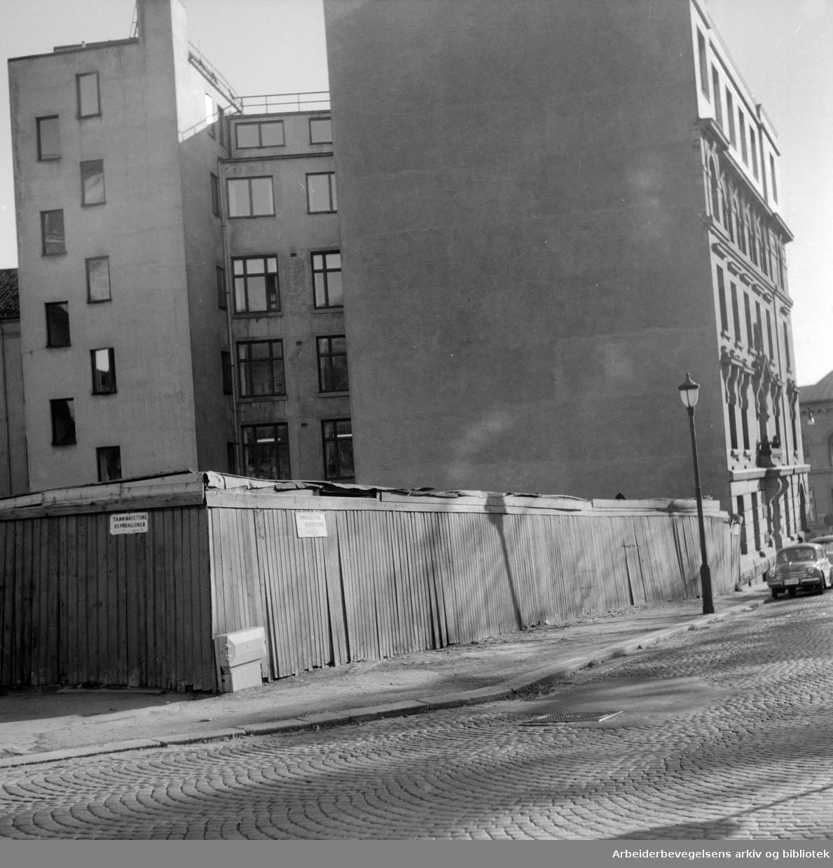 Wergelandsveien. Oktober 1955