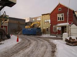 Bygningsmiljø på Kaarbøverkstedet.