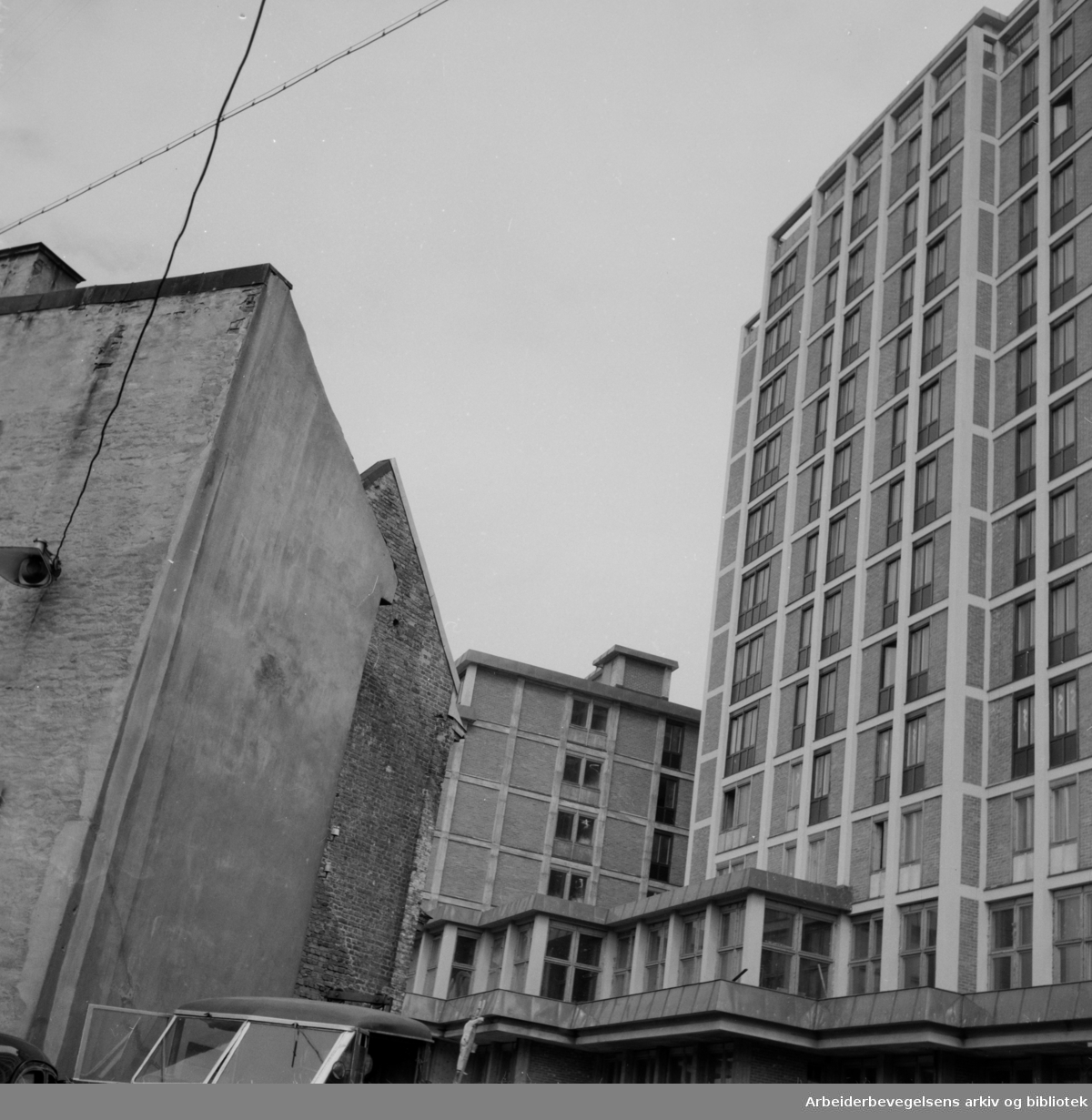 Viking Hotell under bygging. 1951