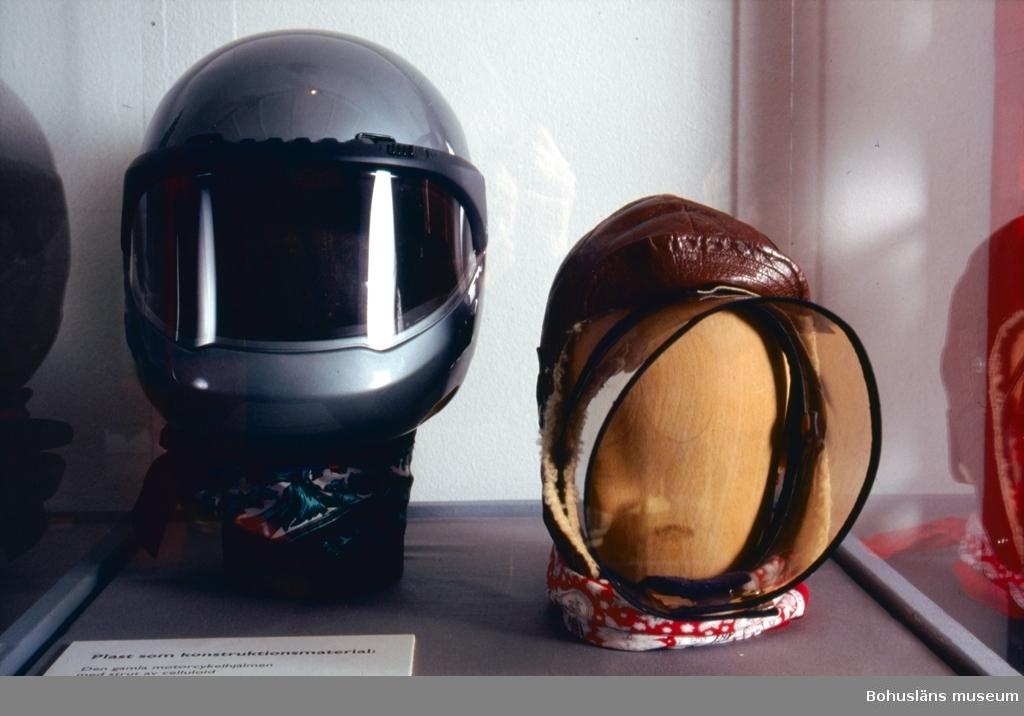 Vindskydd för ansiktet vid motorcykelkörning.