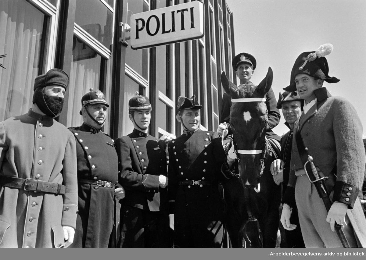 Økern politistasjon åpnet med karneval. Juni 1969