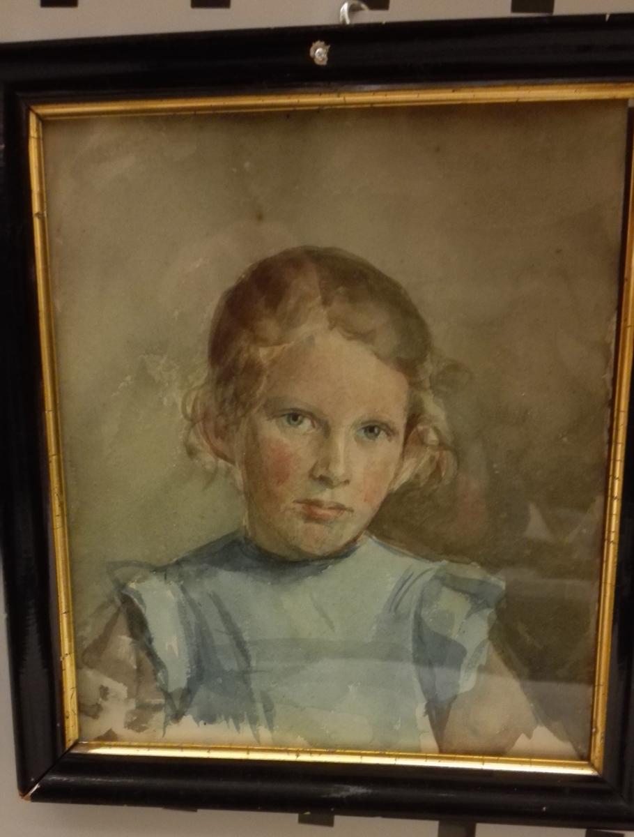 Portrett av gjevaren som barn.