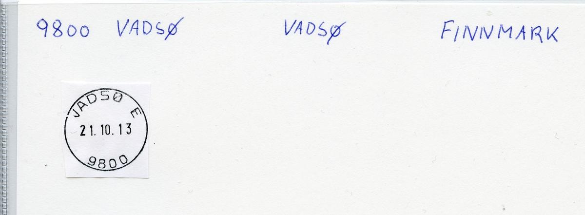 Stempelkatalog 9800 Vadsø, Finnmark