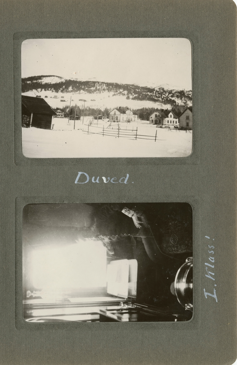 "Text i fotoalbum: ""Duved."""