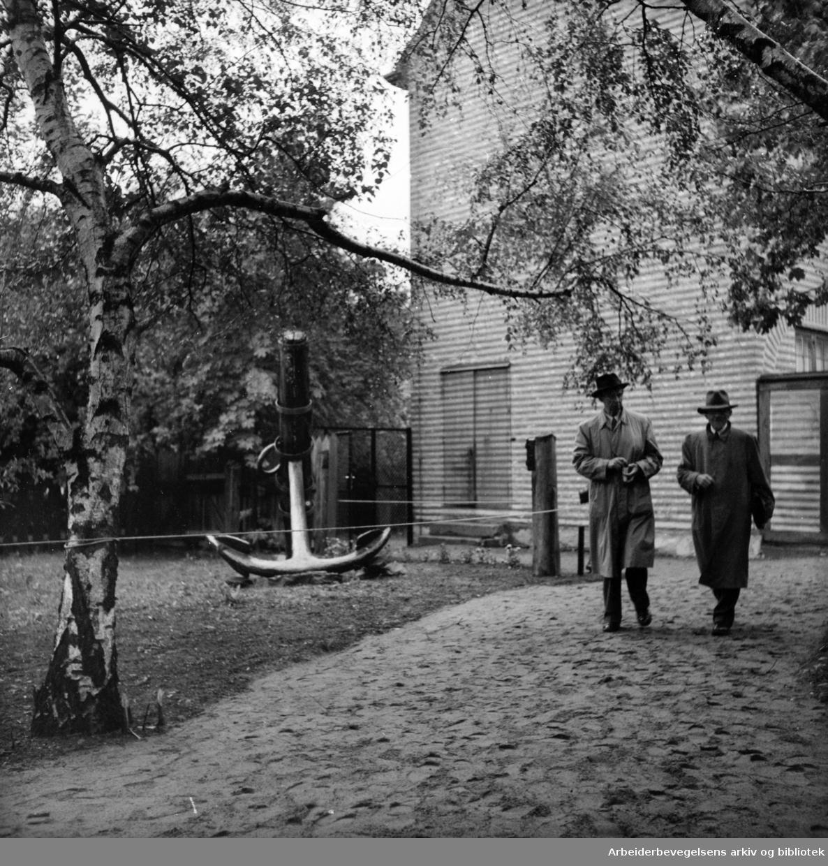 Bygdøy. Sjøfartsmuseet. Eksteriør. Juni 1956.
